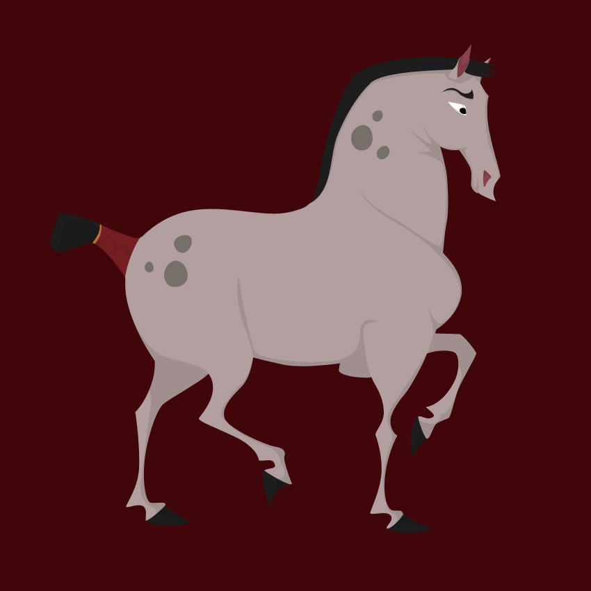 a horse from mulan by citron vert on deviantart