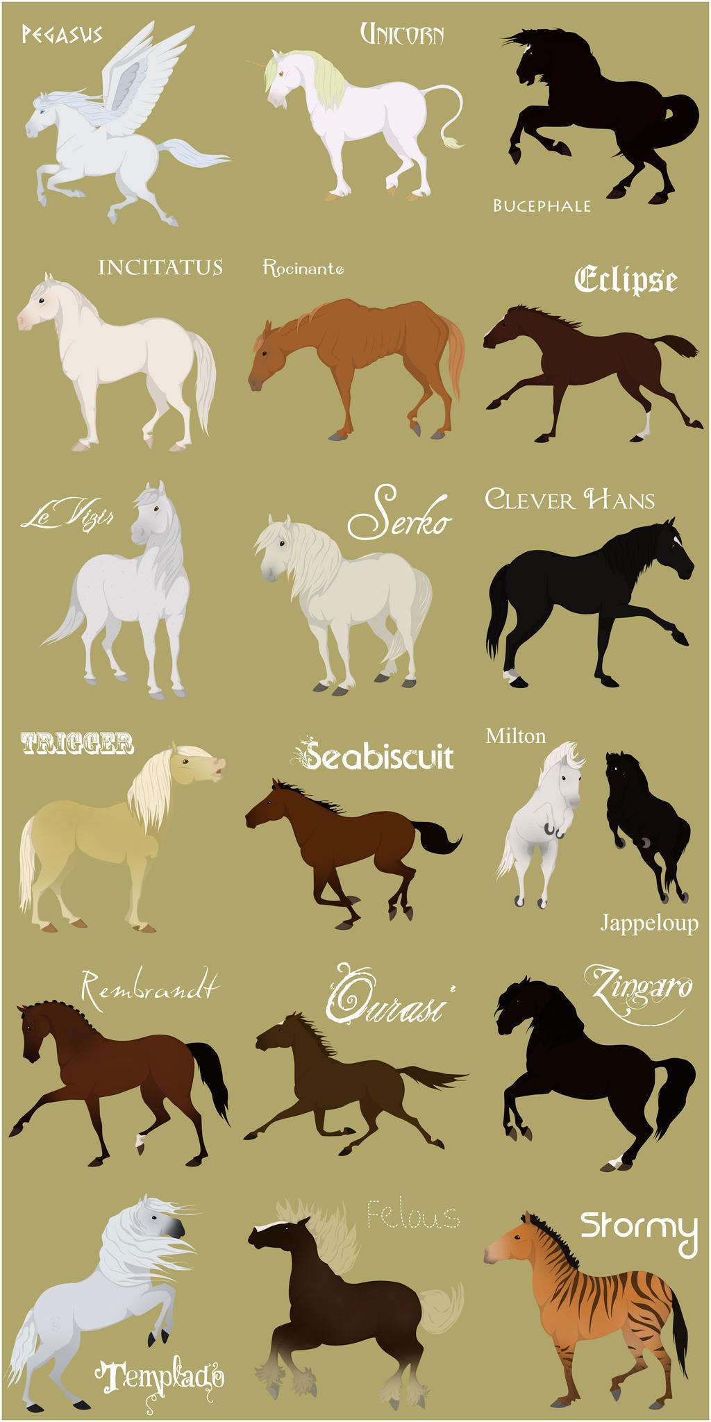 Qu'en pensez vous ? Famous_Horses_by_CitronVert79