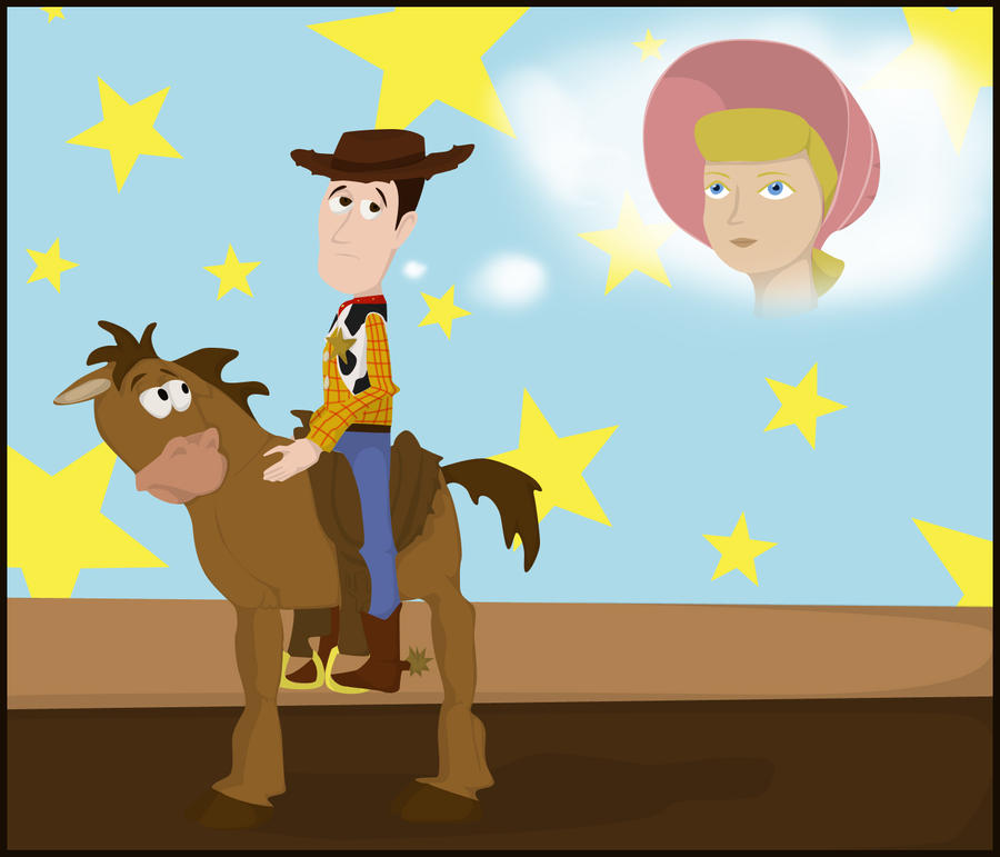 Woody And Bo Peep Cake Topper