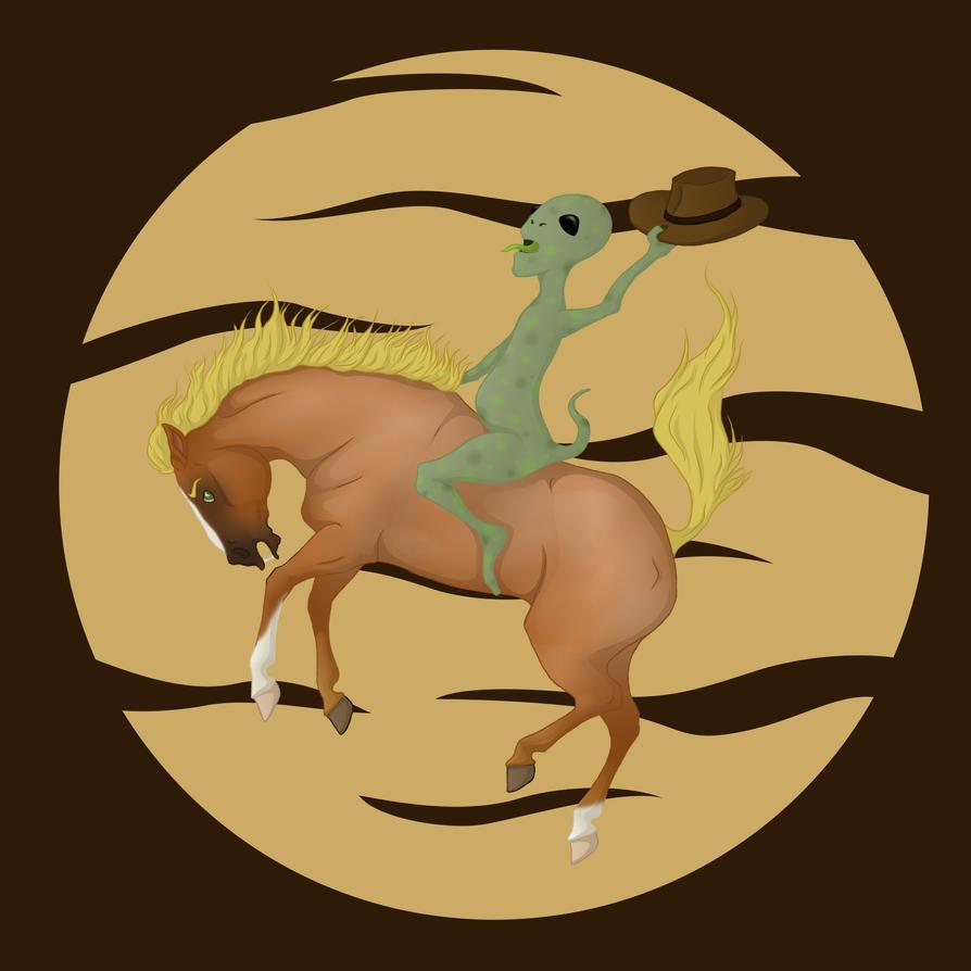 Cowhorse vs Alien by Citron--Vert