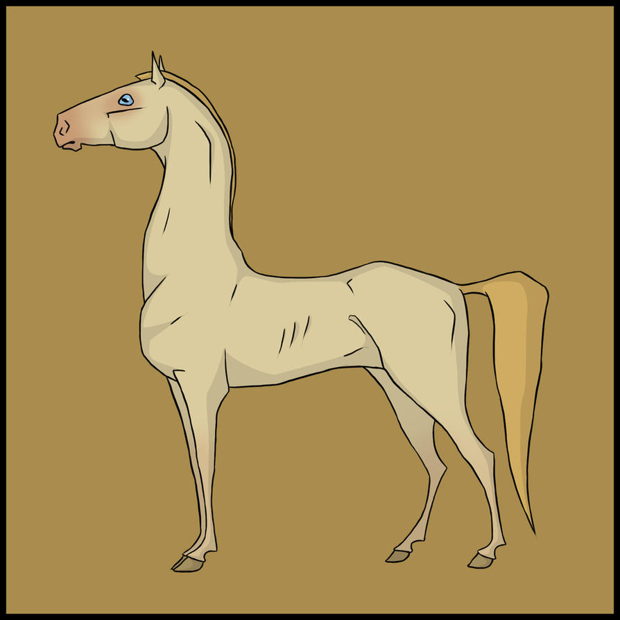 Horse Caricature III by Citron--Vert