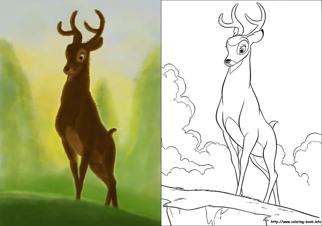 bambi coloring page by citron vert on deviantart