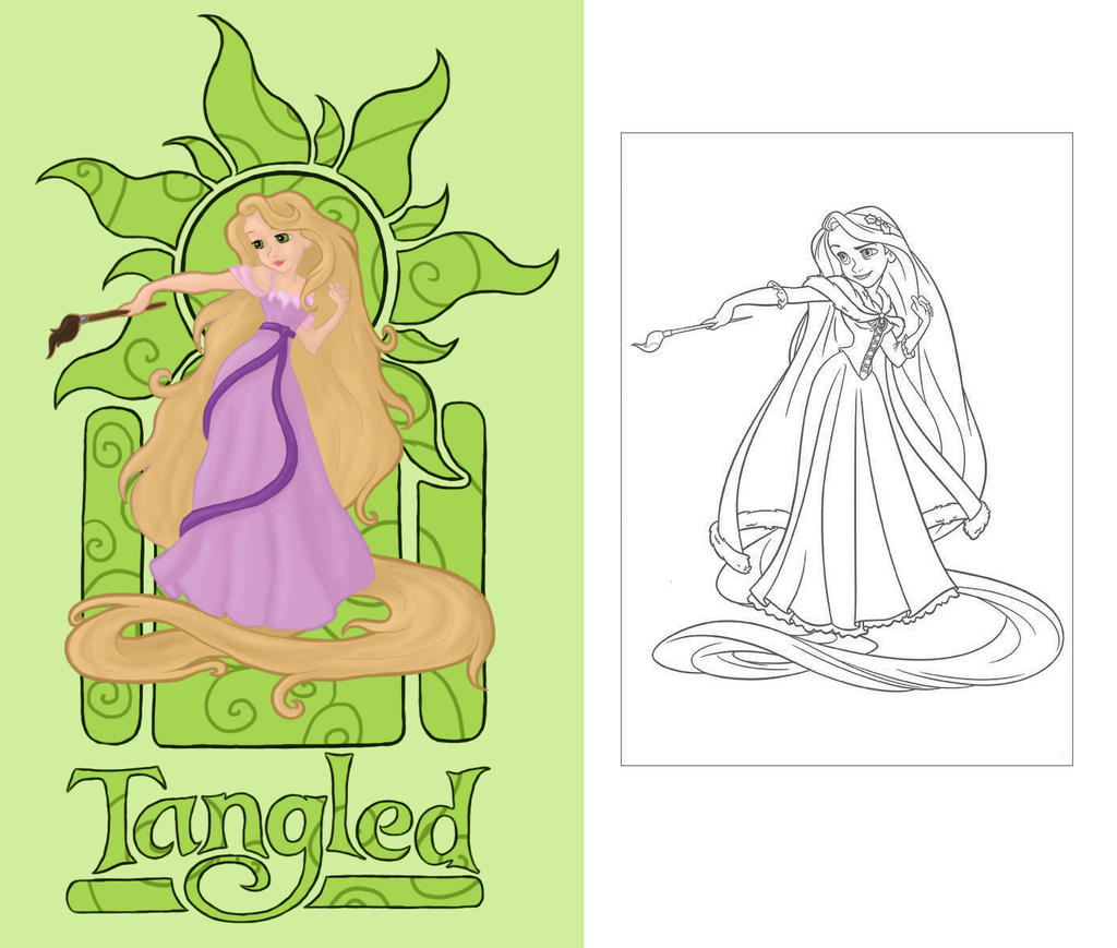 Image Result For Rapunzel Tangled Coloring