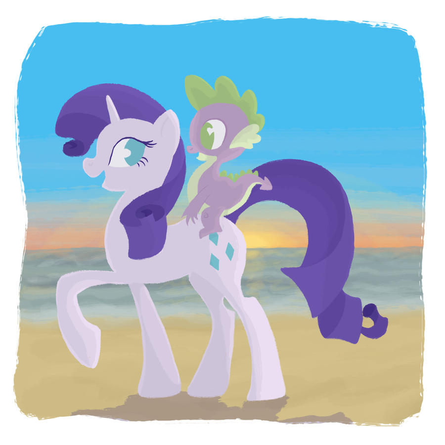 Commission : Rarity and Spike