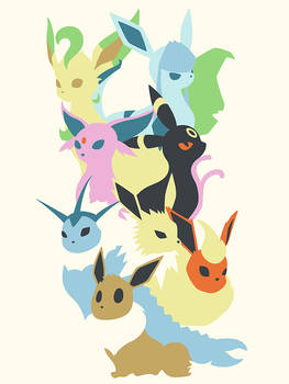 Pokemon 133, 134, 135, 136, 196, 197, 470 and 471