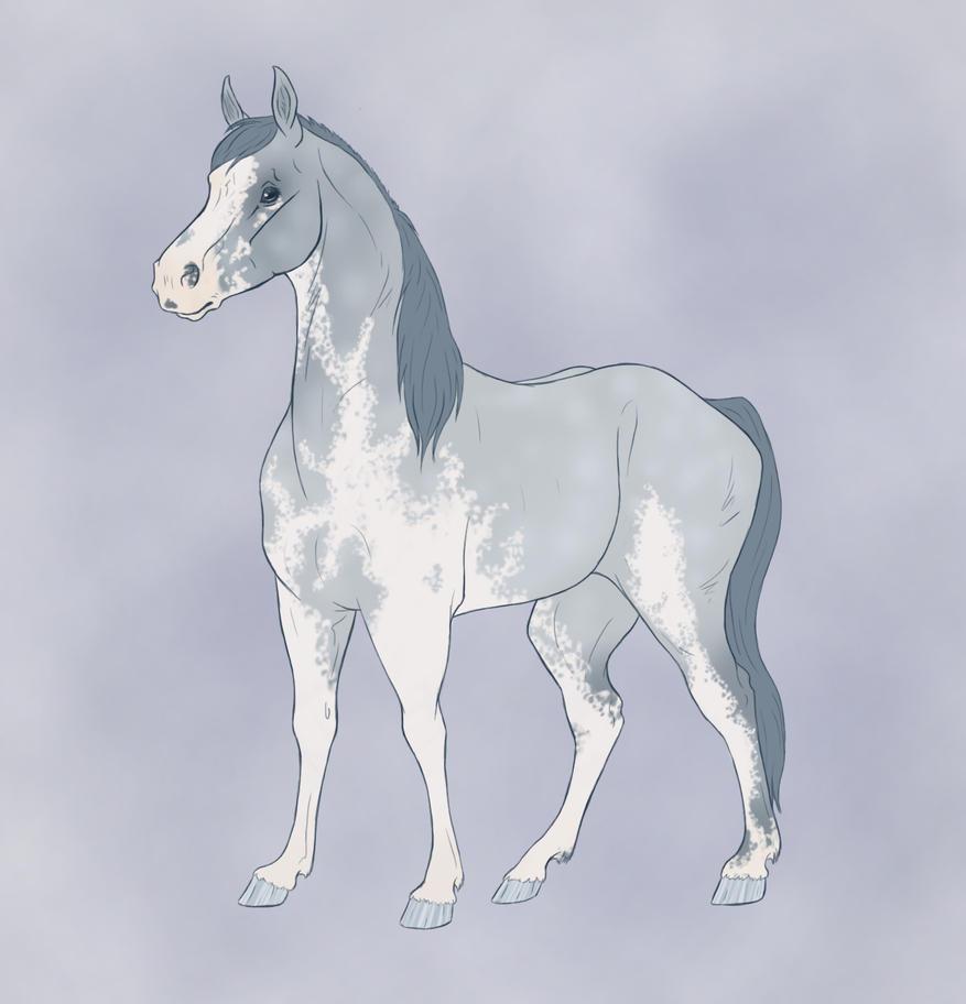 Blue Horse by Citron--Vert