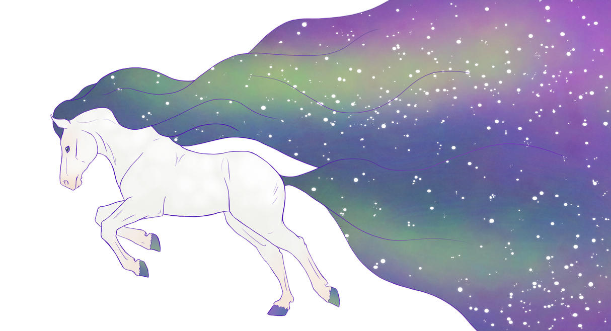Space Horse by Citron--Vert