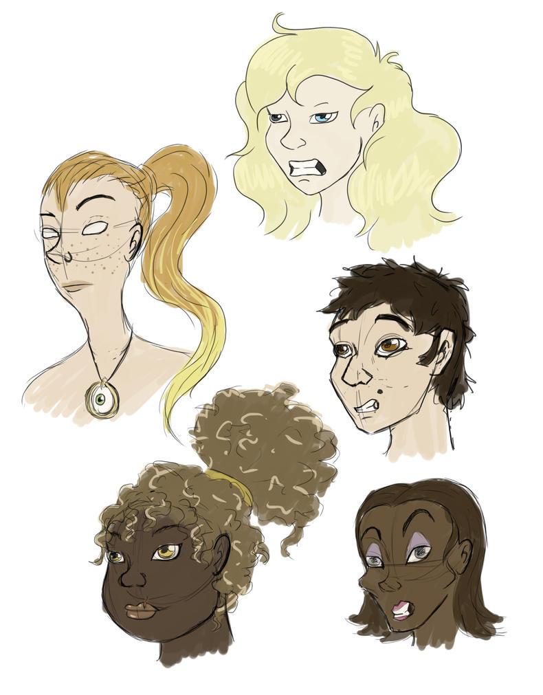 Faces again by Citron--Vert