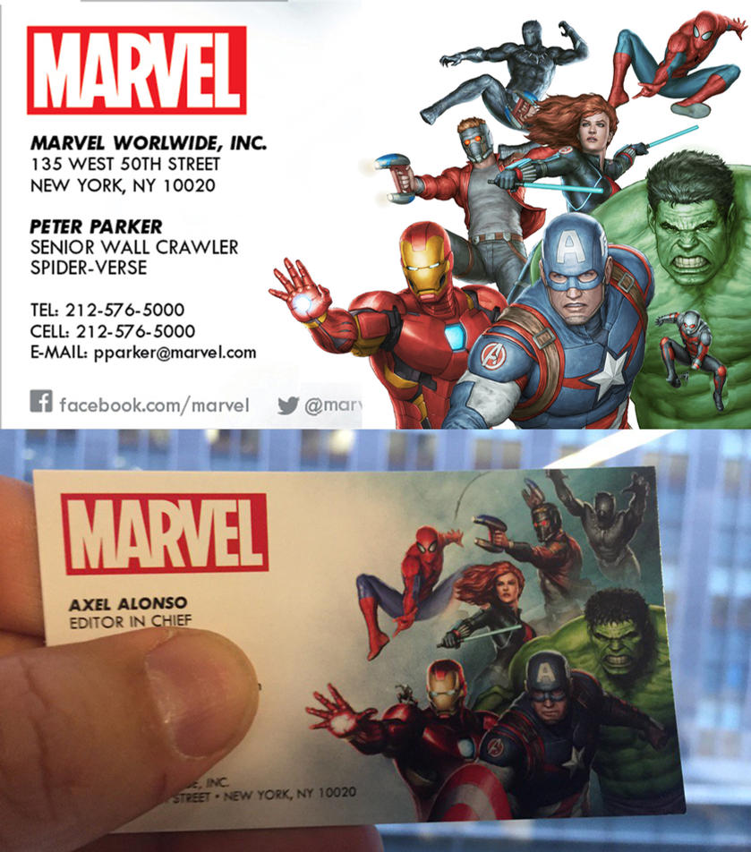 Marvel business card by agustinalessioart on DeviantArt