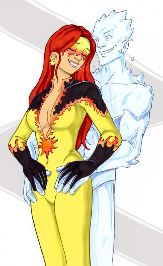 Firestar and Iceman steamy