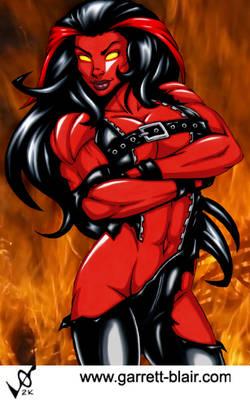 Red She Hulk by Garrett Blair