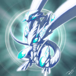 Blue Eyes Radiant Dragon by Raphtil
