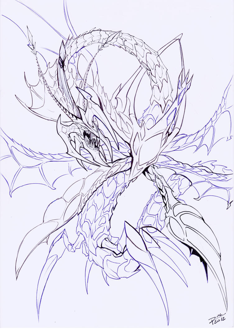 Sketch Number C 17:Gran Leviathan Dragon by Raphtil on ...
