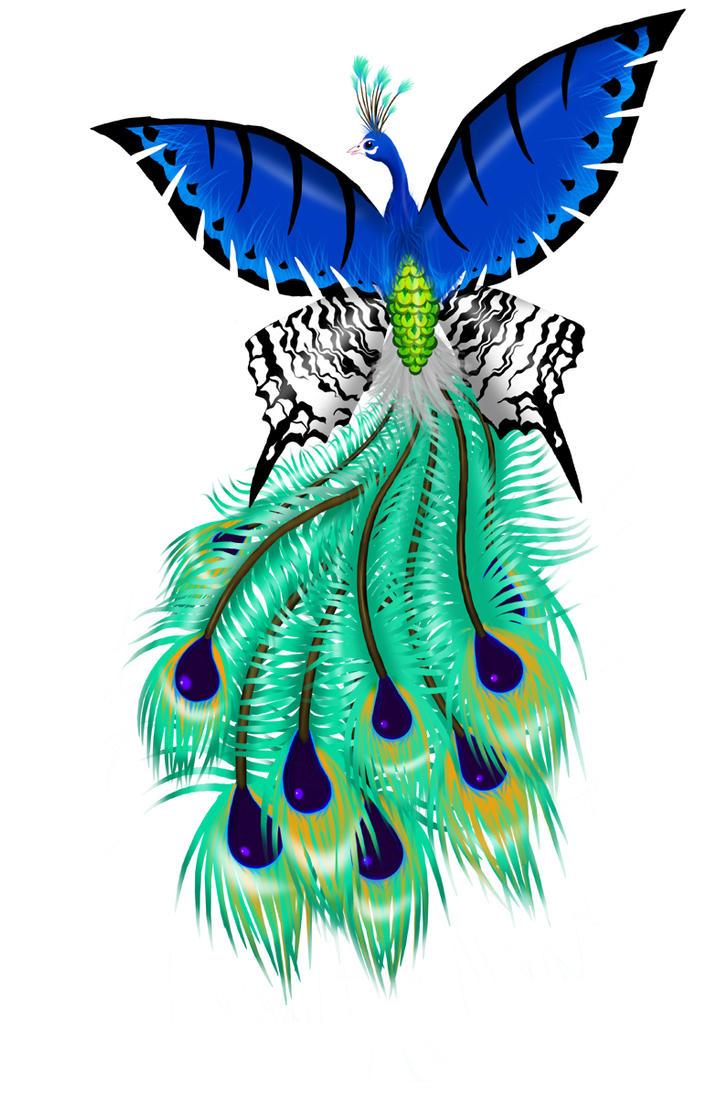 Peacock-Butterfly Tattoo by Yoh-SL on DeviantArt