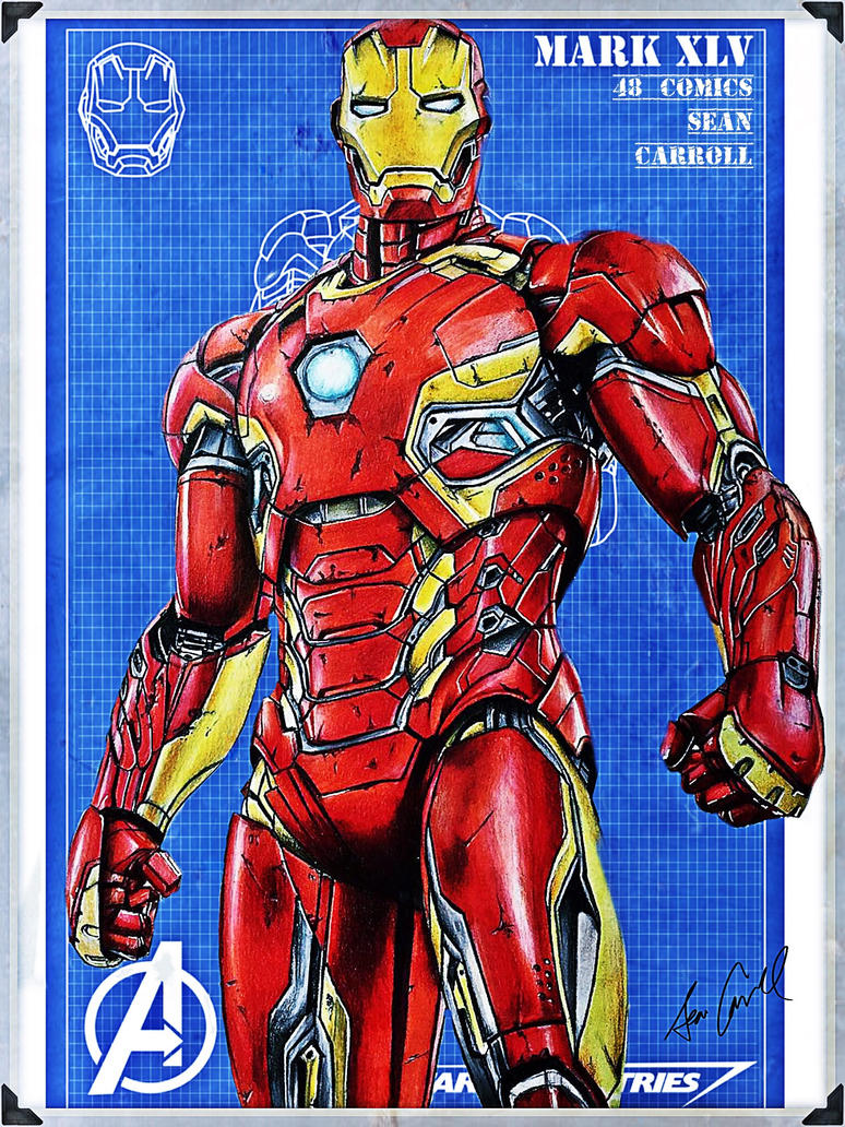 Iron Man Mark xLV  by 48Comics
