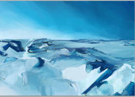 Unfinished Glacier Study by ruojasaatana