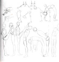 Random anatomy sketches II by ruojasaatana