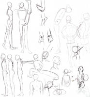 Random anatomy sketches III by ruojasaatana