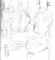 Random anatomy sketches IV by ruojasaatana