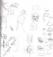 Random anatomy sketches V by ruojasaatana