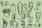 Random anatomy sketches VI