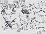 Random anatomy sketches VII