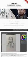 [PT and EN] Line Art Transparency Tutorial