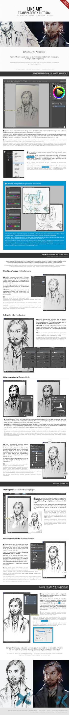 [PT and EN] Line Art Transparency Tutorial by vielmond