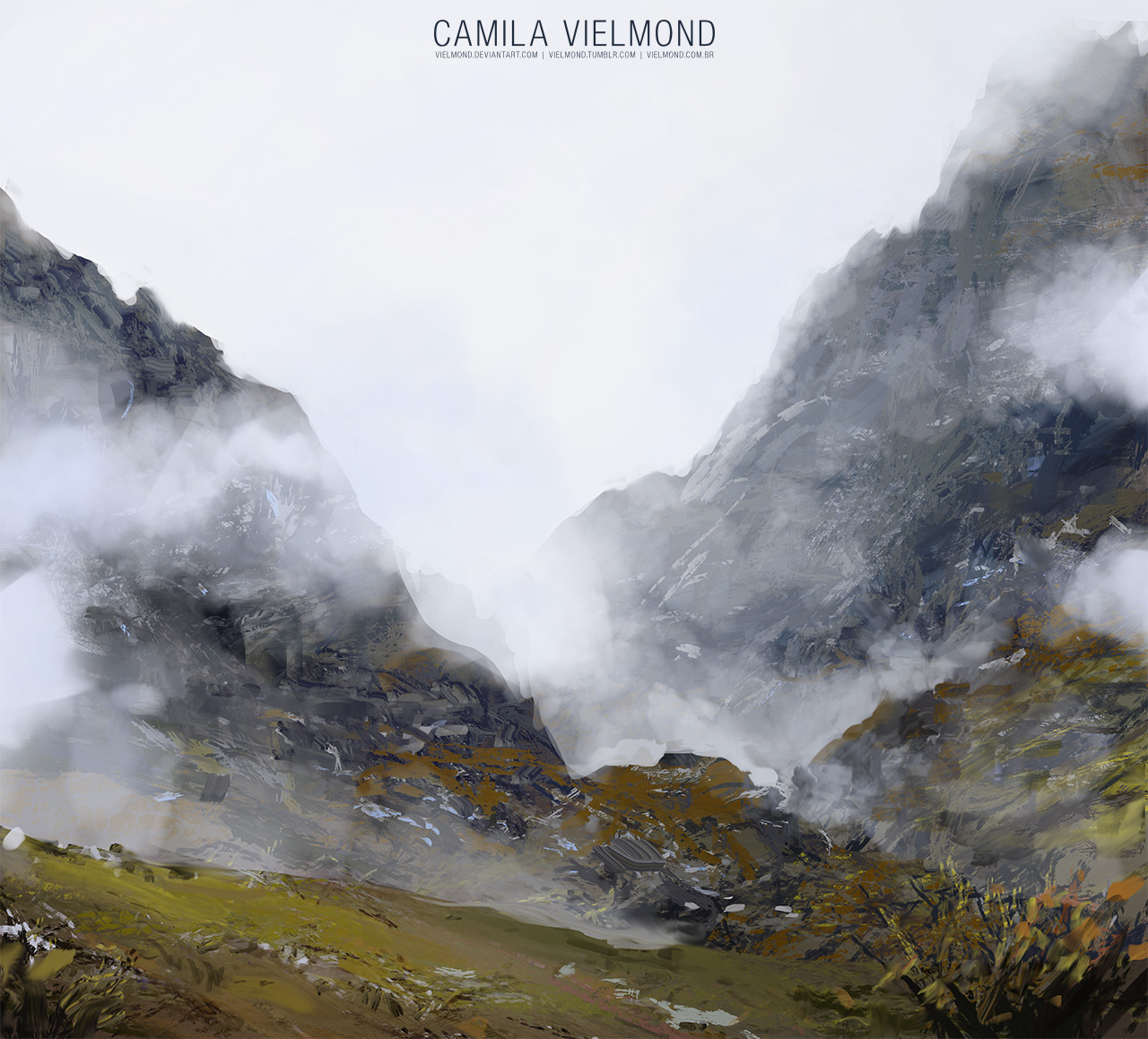 Nameless Mountains by vielmond
