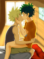 fluffy bakudeku by smolgiant