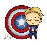 Chibi Captain America by CierinBlue