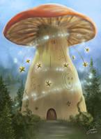 Mushroom House by CierinBlue