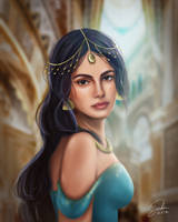 Aladdin: Princess Jasmine Portrait by CierinBlue