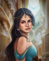 Aladdin: Princess Jasmine Portrait by CierinBlue