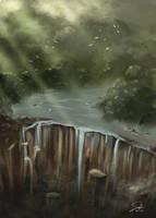 Jungle Waterfalls by CierinBlue