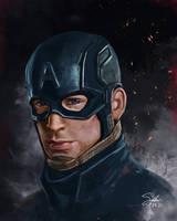 Captain America Portrait by CierinBlue