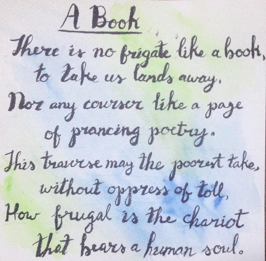 A Book By Emily Dickinson Calligraphy By Souloguitar467