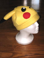 Pikachu Fleece Hat by nikkiswimmer