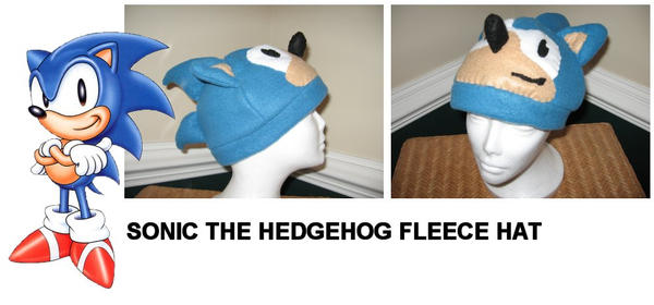 Sonic The Hedgehog Fleece Hat By Nikkiswimmer On Deviantart