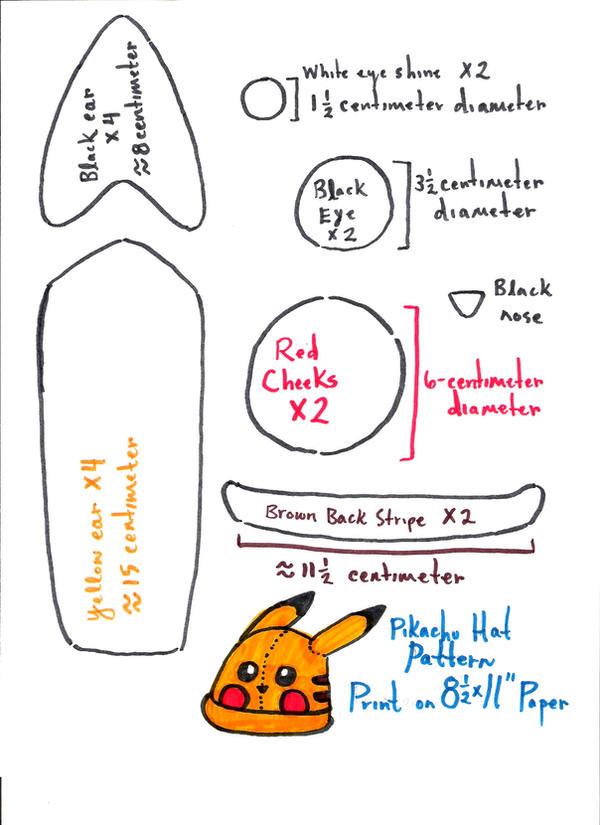 Pikachu Hat Decoration Pattern by nikkiswimmer on DeviantArt