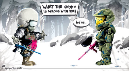 Battlefield VS Halo by Kubaboom