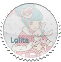 Round Lolita Stamp by Loli-Club