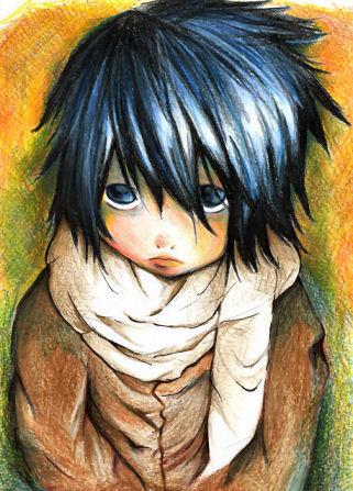 Death Note - Página 2 L_Child_by_zeroxcake
