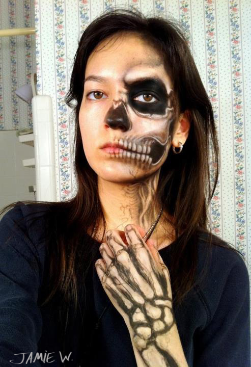 Half Skull Makeup By VisualJamie On DeviantArt