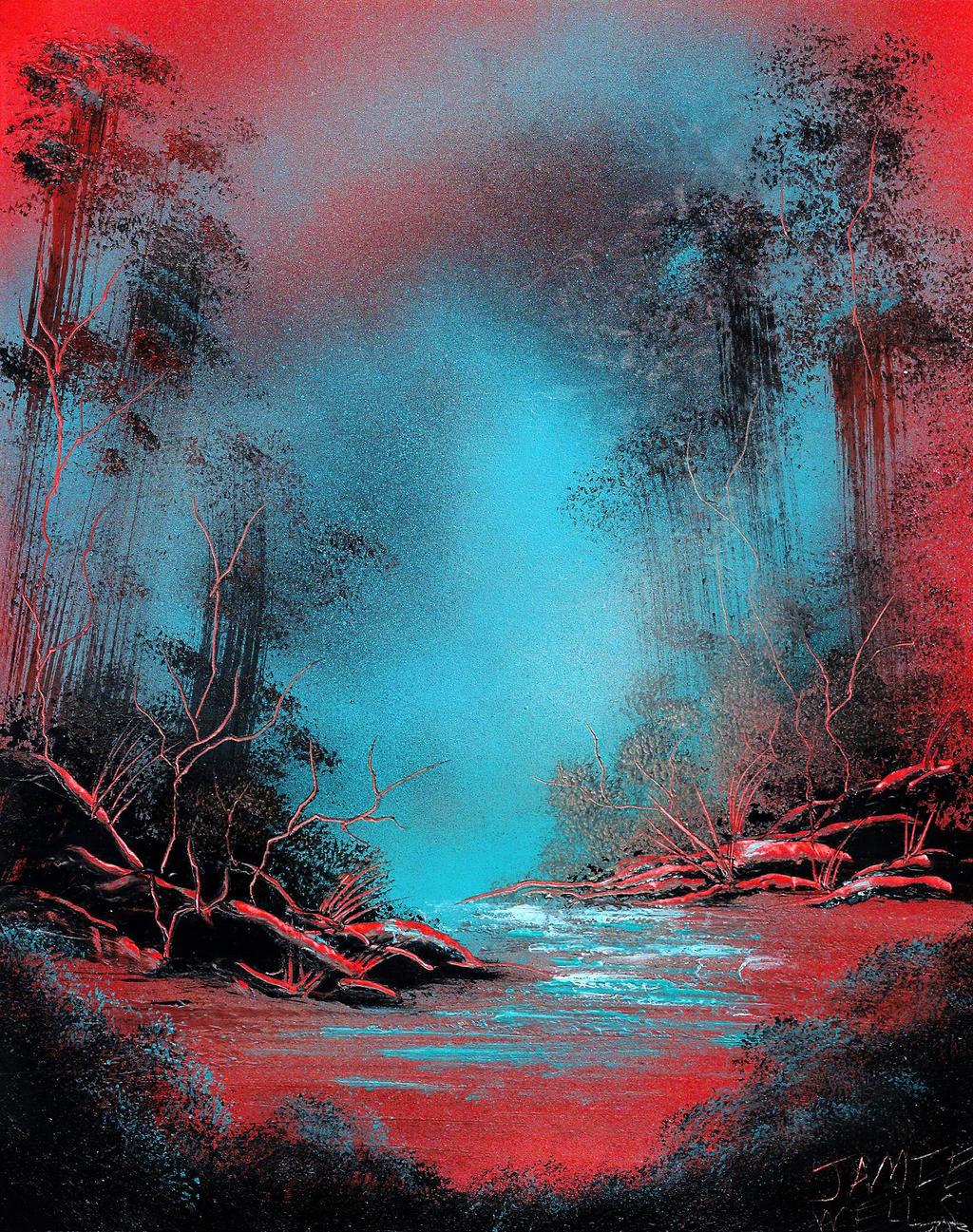 Spray Paint Art This Is A Strange Planet By Visualjamie On Deviantart
