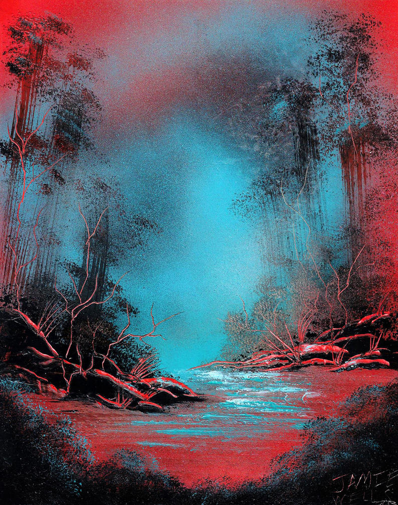 Spray paint art this is a strange planet by visualjamie for How to spray paint art on canvas