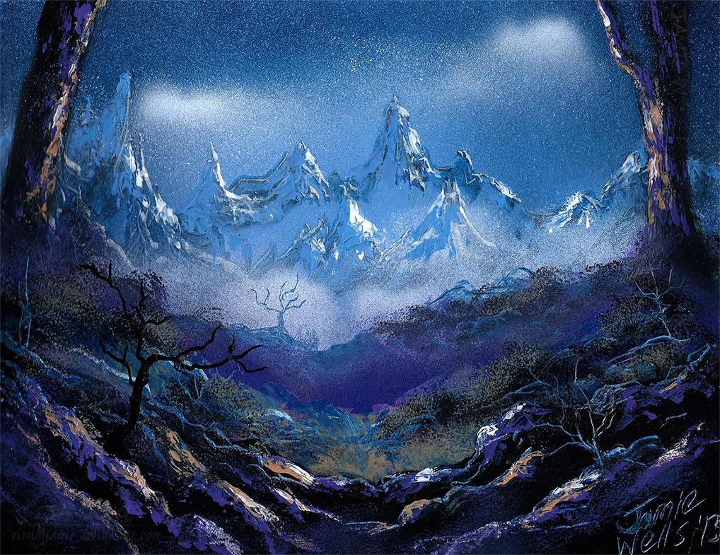 Spray paint art purple nature by visualjamie on deviantart for How to spray paint art on canvas