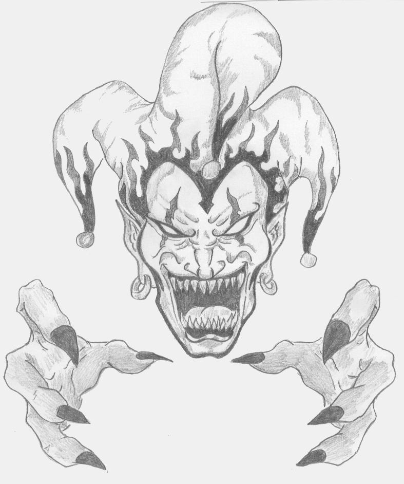 Clown Tattoo, Evil Clowns And Scary Clowns On Pinterest