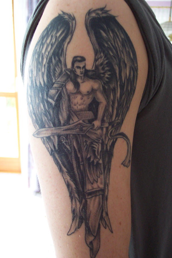 1000 images about archangel tattoo ideas on pinterest. Black Bedroom Furniture Sets. Home Design Ideas