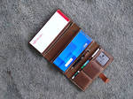 checkholder wallet for two checkbooks in Taupe